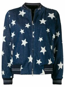 Liska star print denim jacket - Blue