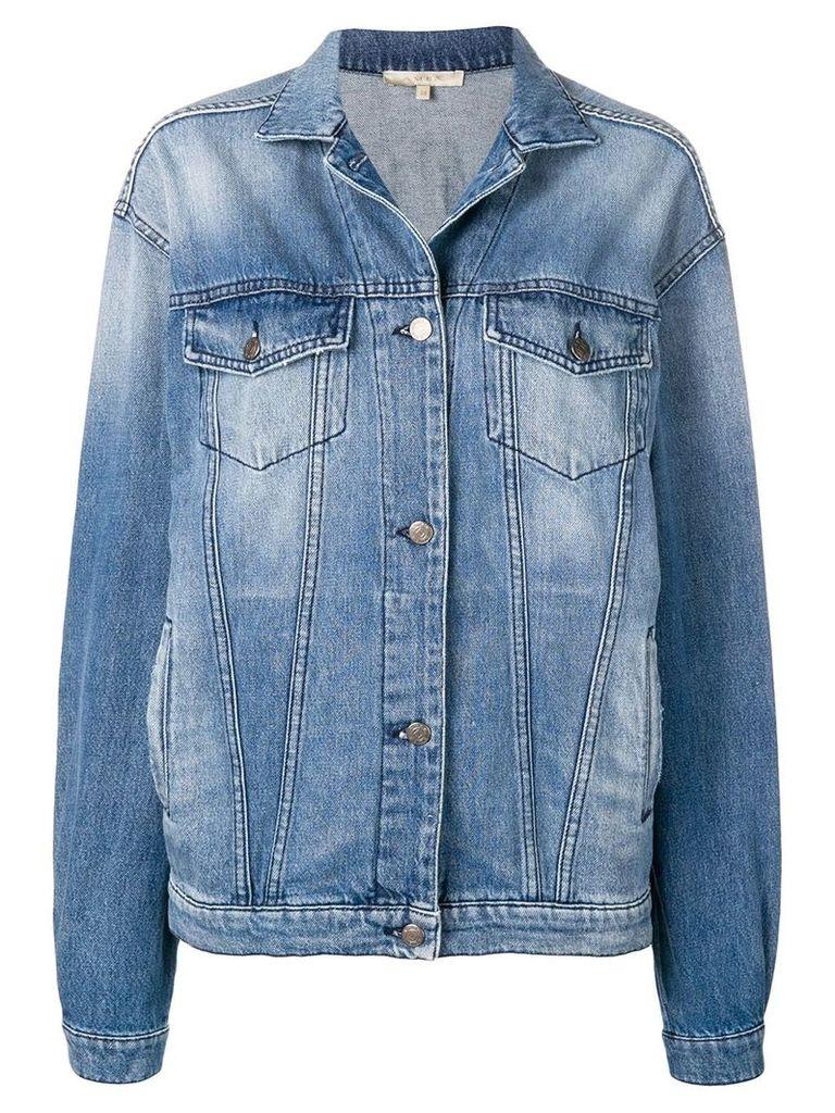 Amen printed denim jacket - Blue