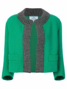 Prada knitted trim jacket - Green