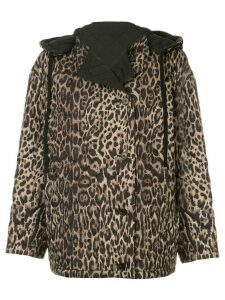 Ports 1961 leopard quilted jacket - Brown