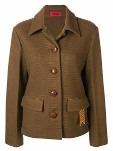 The Gigi cutaway collar jacket - Brown