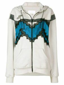 Maison Margiela lace detail jacket - Grey