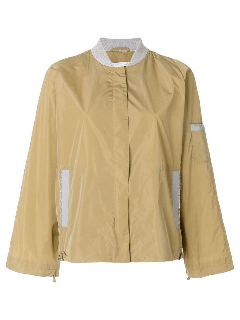 Fabiana Filippi zipped fitted jacket - Brown