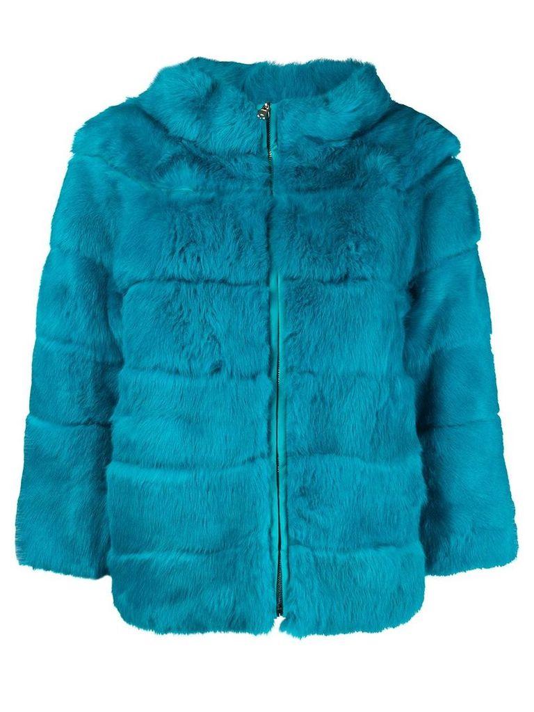 Blugirl boxy high neck jacket - Blue