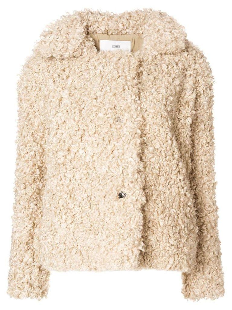 Closed artificial fur jacket - Neutrals