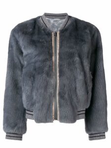 Liska fur bomber jacket - Grey