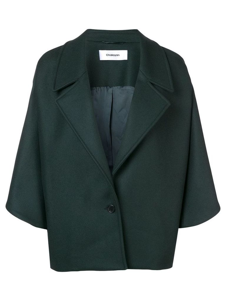 Chalayan drape shoulder jacket - Green