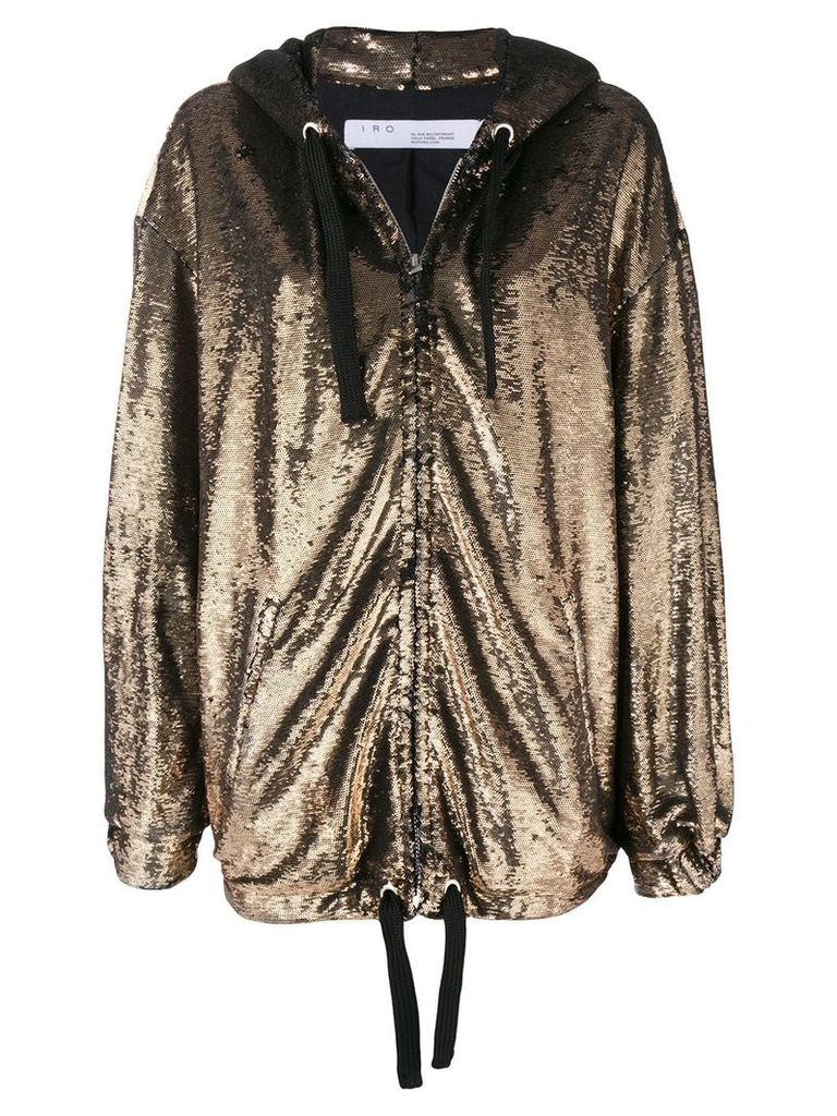 Iro Dory sequin oversized jacket - Metallic
