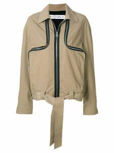JW Anderson cumin two-way zipper utility jacket - Brown