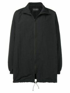 Yuiki Shimoji print patch windbreaker jacket - Black