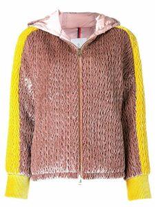 Moncler oversized padded jacket - Pink