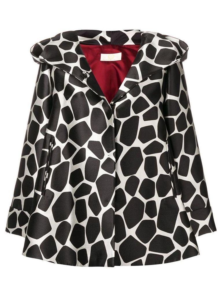 Sara Battaglia giraffe print oversized jacket - Black