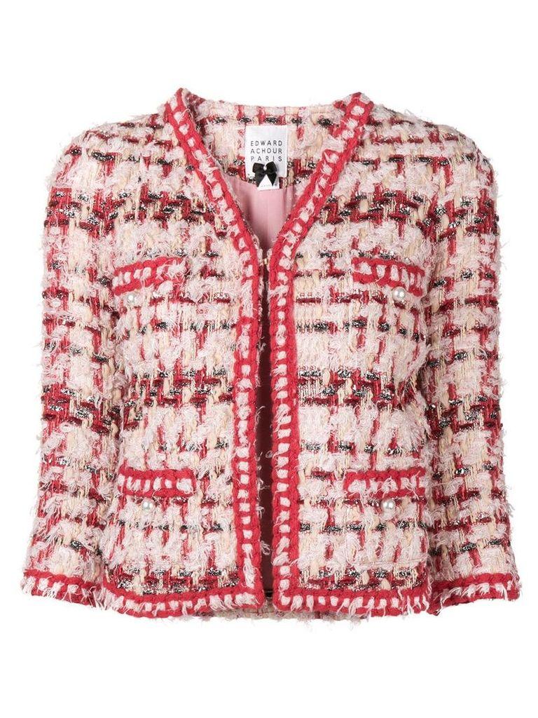 Edward Achour Paris classic tweed jacket - Multicolour