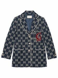 Gucci GG jersey jacket - Blue