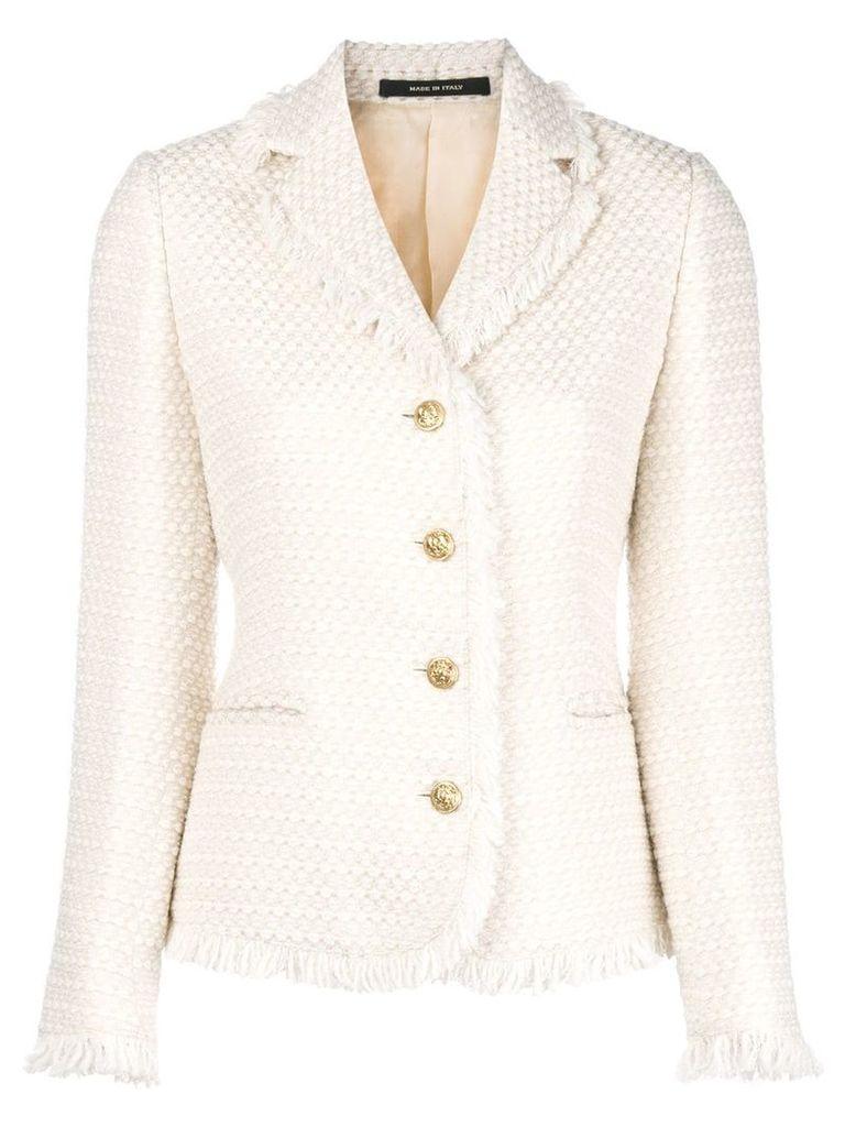 Tagliatore tweed jacket - Neutrals
