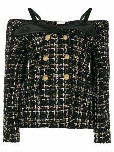 Faith Connexion cold shoulder tweed jacket - Black