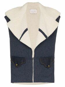 Johanna Ortiz Hasta La Vista Baby cotton-blend waistcoat - Blue