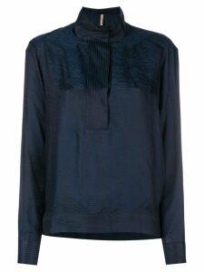 Indress jaquard blouse - Blue