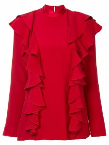 Adam Lippes ruffle front blouse - Red