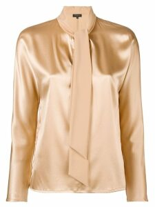 Antonelli Anita tie neck blouse - Neutrals