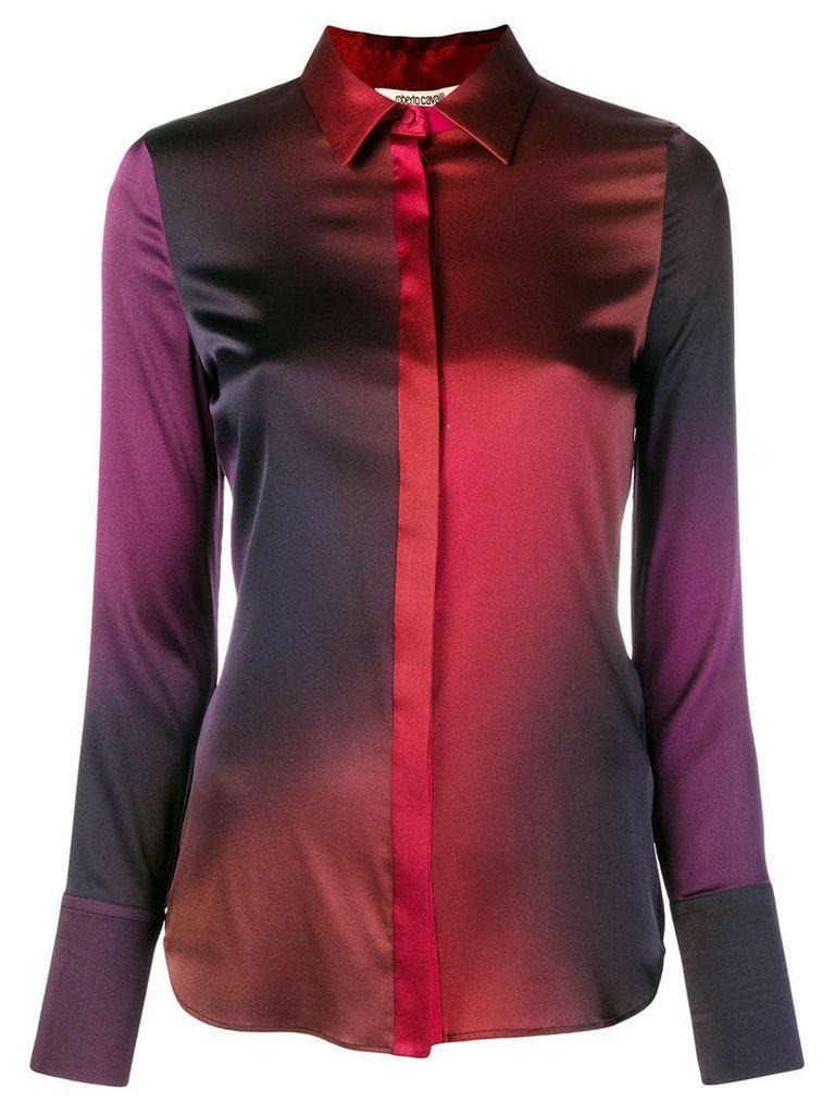 Roberto Cavalli degrade georgette shirt - Red