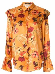 Mother Of Pearl floral print ruffle detail blouse - Multicolour