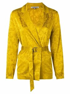 Maison Père belted blouse - Yellow