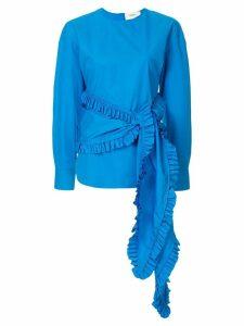 Ports 1961 frilled sash blouse - Blue