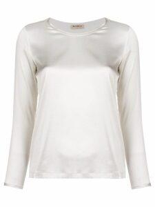 Blanca round neck blouse - White