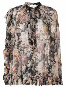 Zimmermann floral print blouse - Black