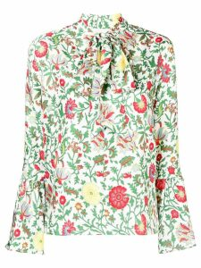 La Doublej floral pussybow blouse - Green