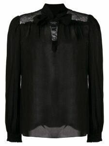 Giambattista Valli pussy bow blouse - Black