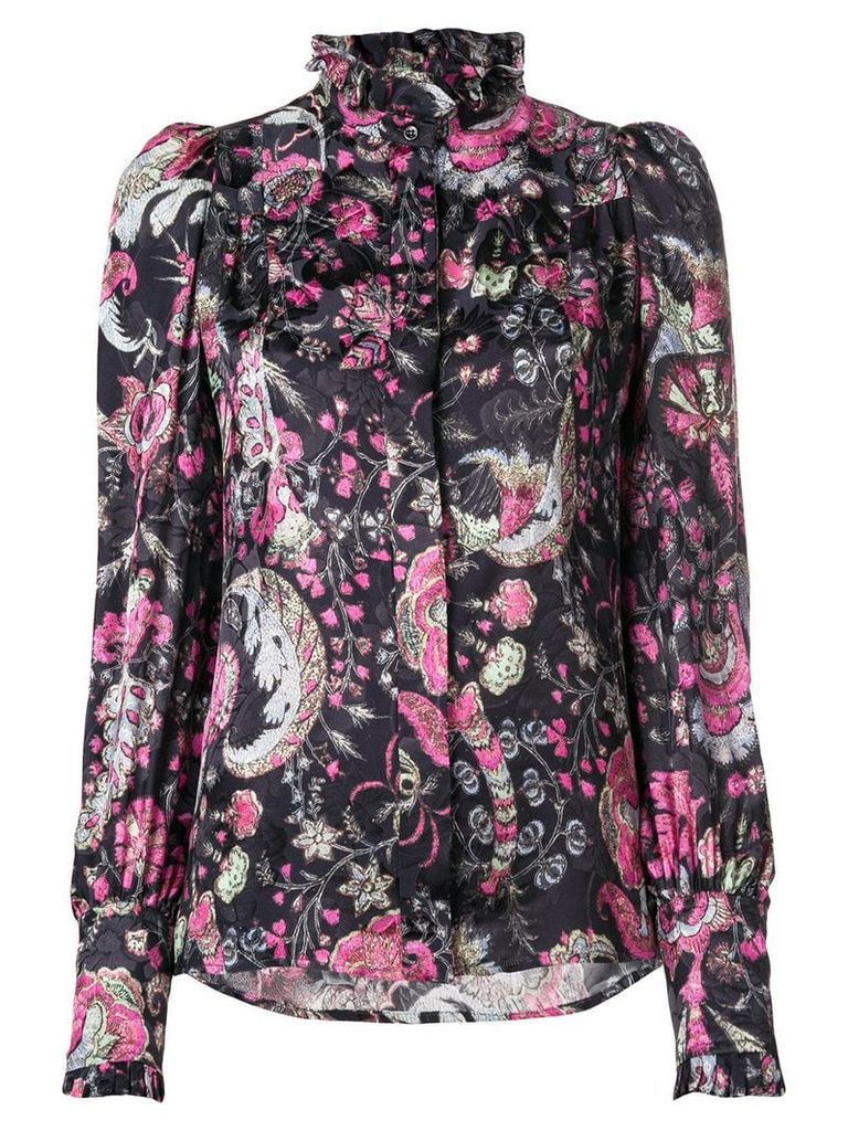 Isabel Marant floral-print blouse - Black