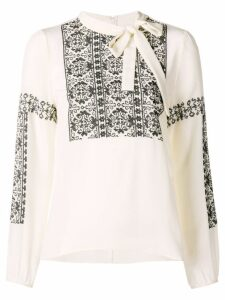 Red Valentino lace-embroidered blouse - White