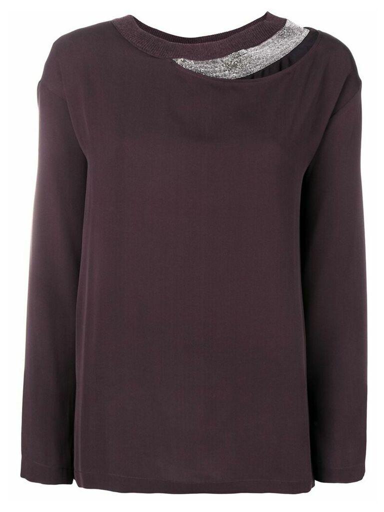 Fabiana Filippi layered long sleeved blouse - Pink