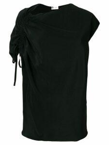 Lanvin asymmetric drawstring blouse - Black