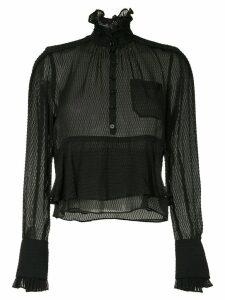 Carven frilled loose blouse - Black