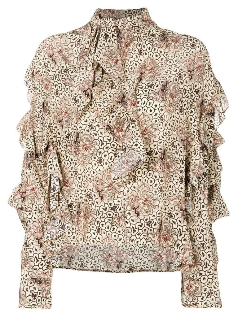 Isabel Marant ruffled blouse - Neutrals