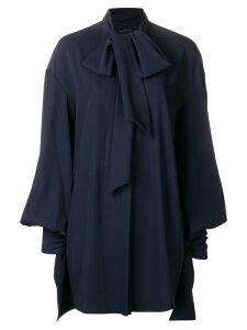 Rokh draped tie blouse - Blue