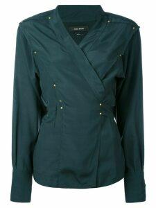 Isabel Marant studded wrap blouse - Green