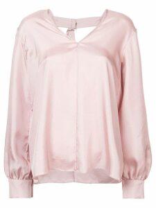 Tibi Mendini buckle back blouse - Pink