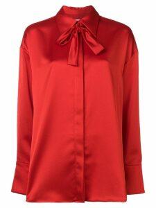 MSGM printed satin shirt - Red