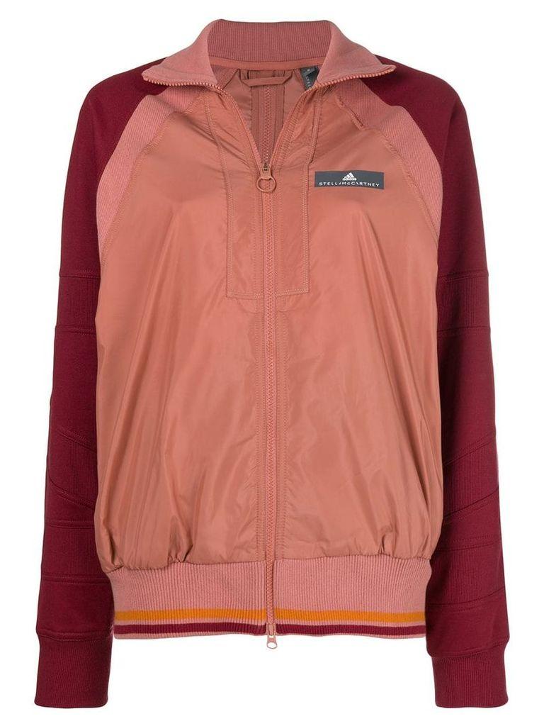 Adidas By Stella Mccartney contrast sleeved jacket - Pink
