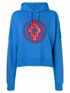 Marcelo Burlon County Of Milan logo hoodie - Blue