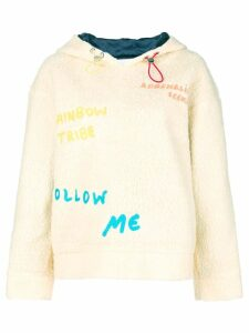 Mira Mikati embroidered hoodie - Neutrals