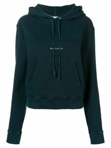 Saint Laurent logo hoodie - Green