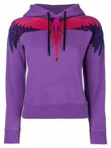 Marcelo Burlon County Of Milan Wings print hoodie - Purple