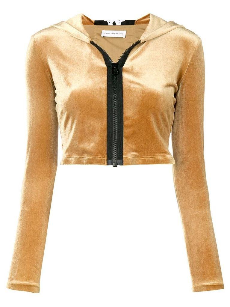 Faith Connexion cropped zipped hoodie - Brown
