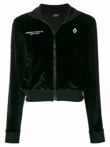 Marcelo Burlon County Of Milan cropped zip hoodie - Black