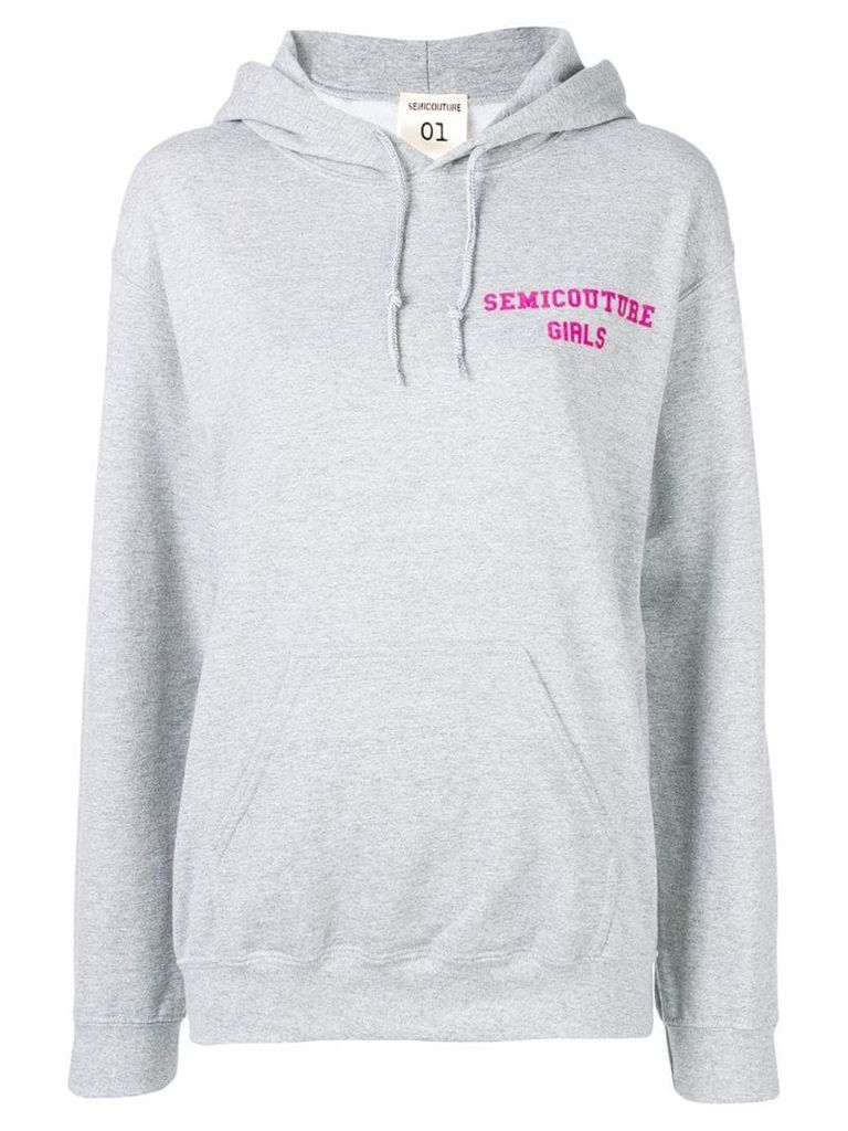 Semicouture loose fitted hoodie - Grey